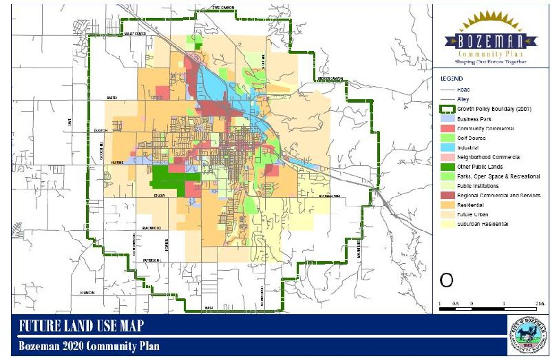 Bozeman Montana Real Estate - Bozeman Land Use Map