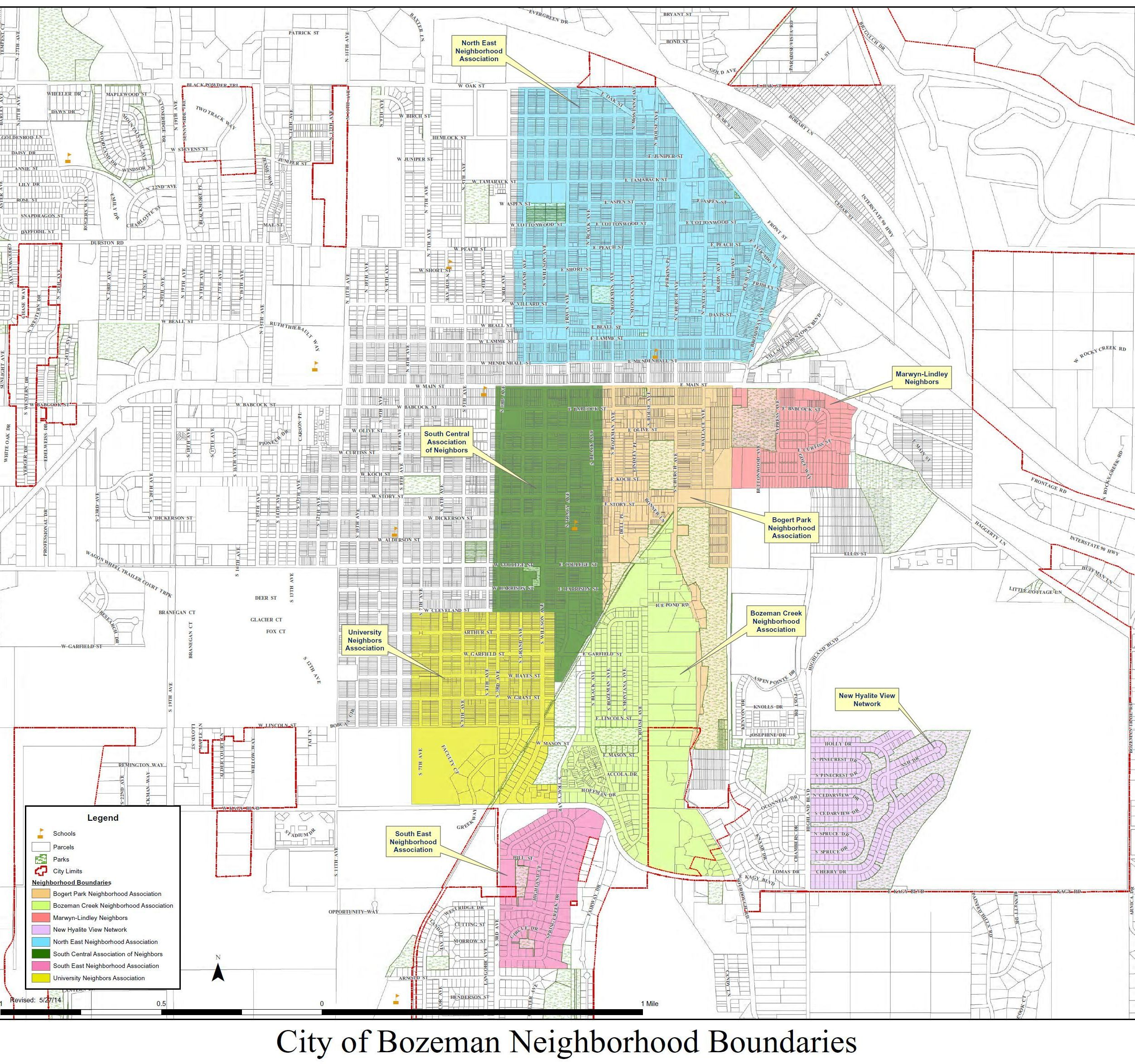 Giant Bozeman Subdivision Map