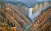 Upper Falls Yellowstone National Park - Jim Dick Painting
