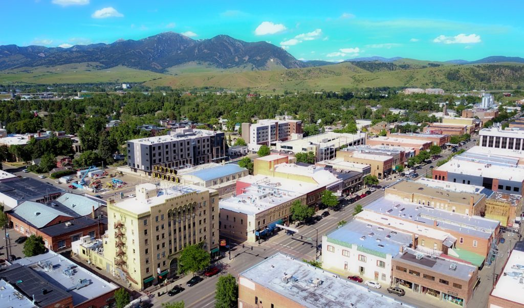 Downtown Bozeman Montana With Baxter Hotel